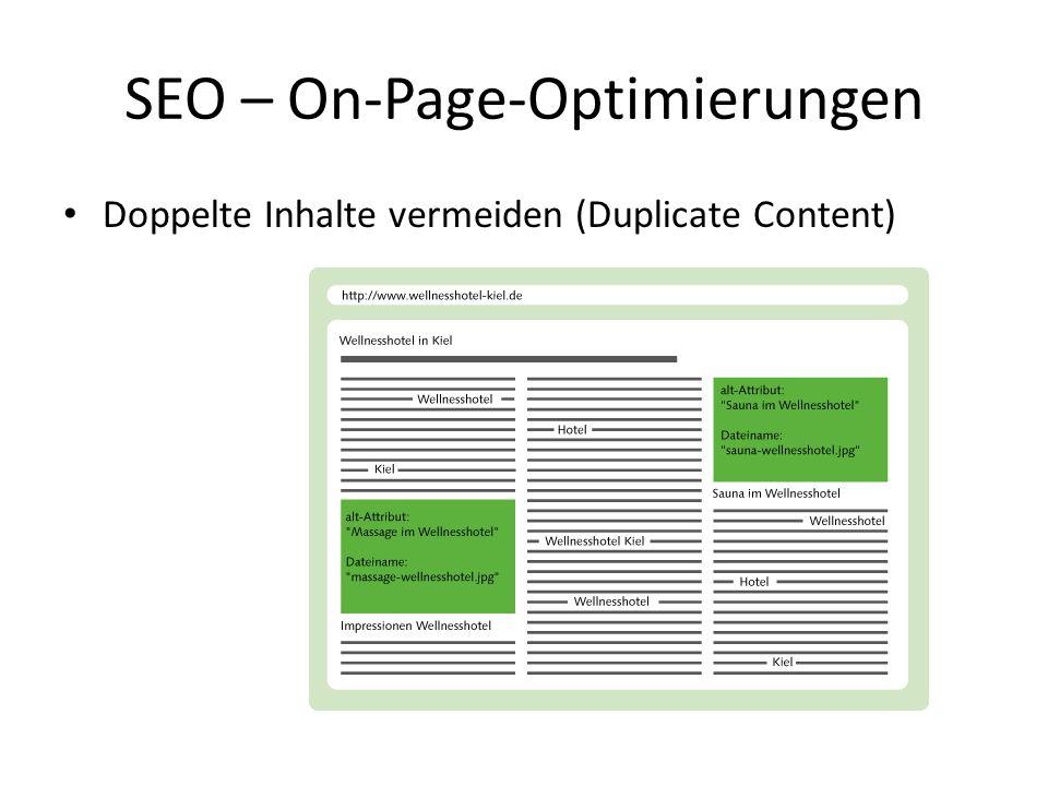 Doppelte Inhalte vermeiden (Duplicate Content) SEO – On-Page-Optimierungen
