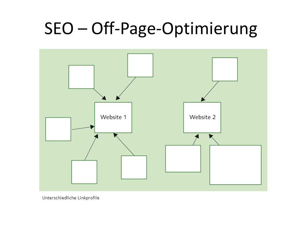 SEO – Off-Page-Optimierung Unterschiedliche Linkprofile