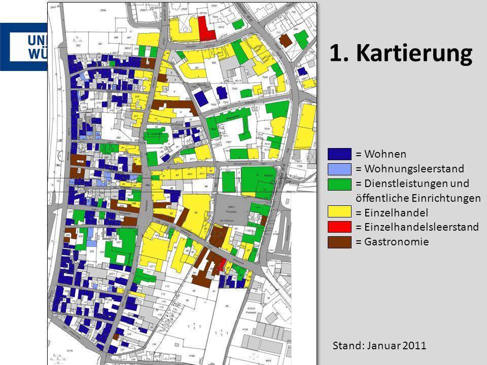 = Wohnen = Wohnungsleerstand = Dienstleistungen und öffentliche Einrichtungen = Einzelhandel = Einzelhandelsleerstand = Gastronomie Stand: Januar 2011 1.