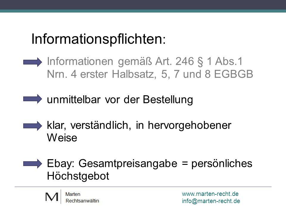 www.marten-recht.de info@marten-recht.de Informationspflichten : Informationen gemäß Art.