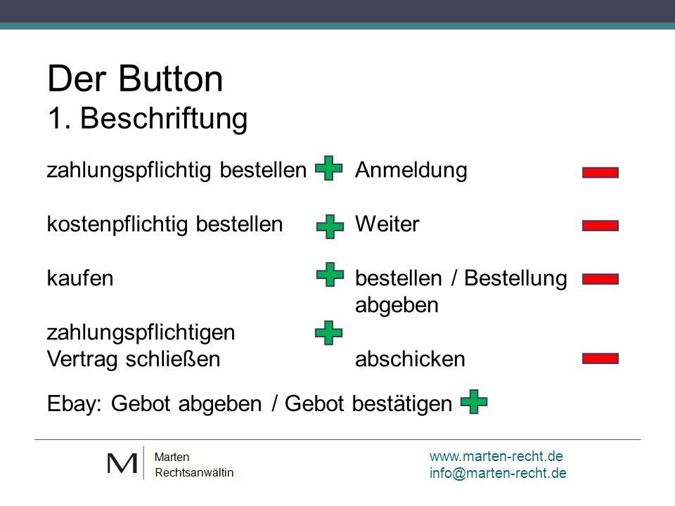 Der Button 1.