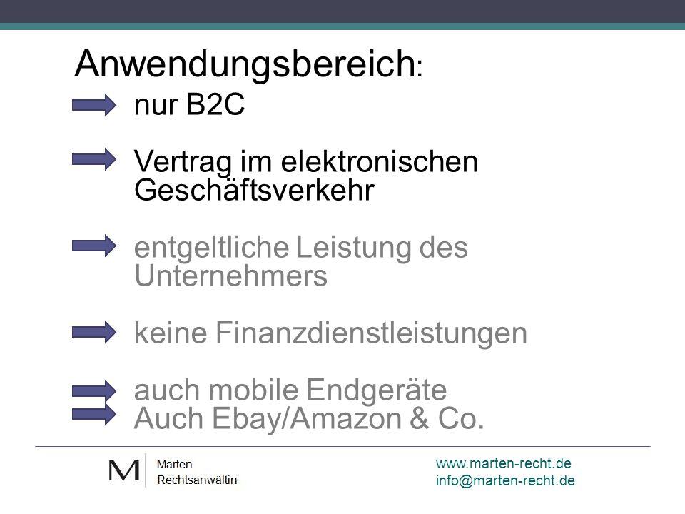 www.marten-recht.de info@marten-recht.de Elektronischer Geschäftsverkehr: § 312g Abs.