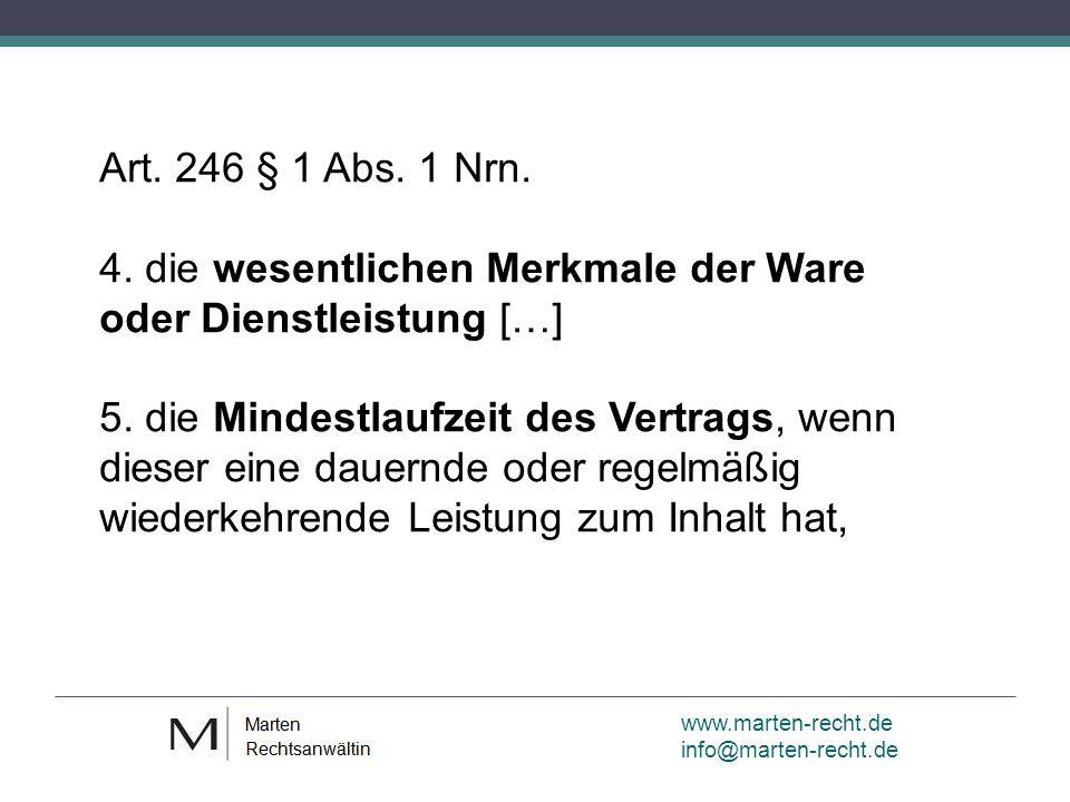 www.marten-recht.de info@marten-recht.de Art. 246 § 1 Abs.