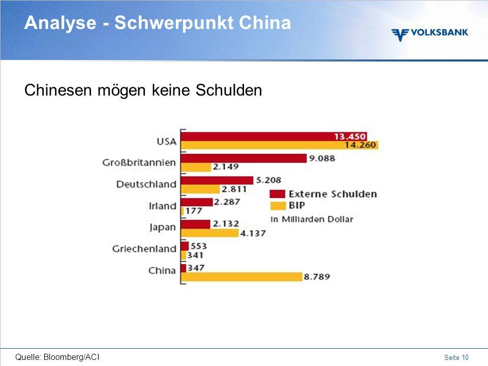 Seite 9 Analyse - Schwerpunkt China Gesteuerte Währung