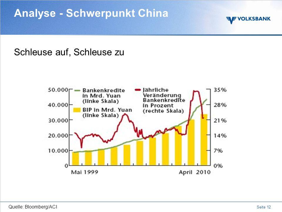 Seite 11 Gesplitterter Immobilienmarkt: Beispiele Analyse -Schwerpunkt China Quelle: DWS