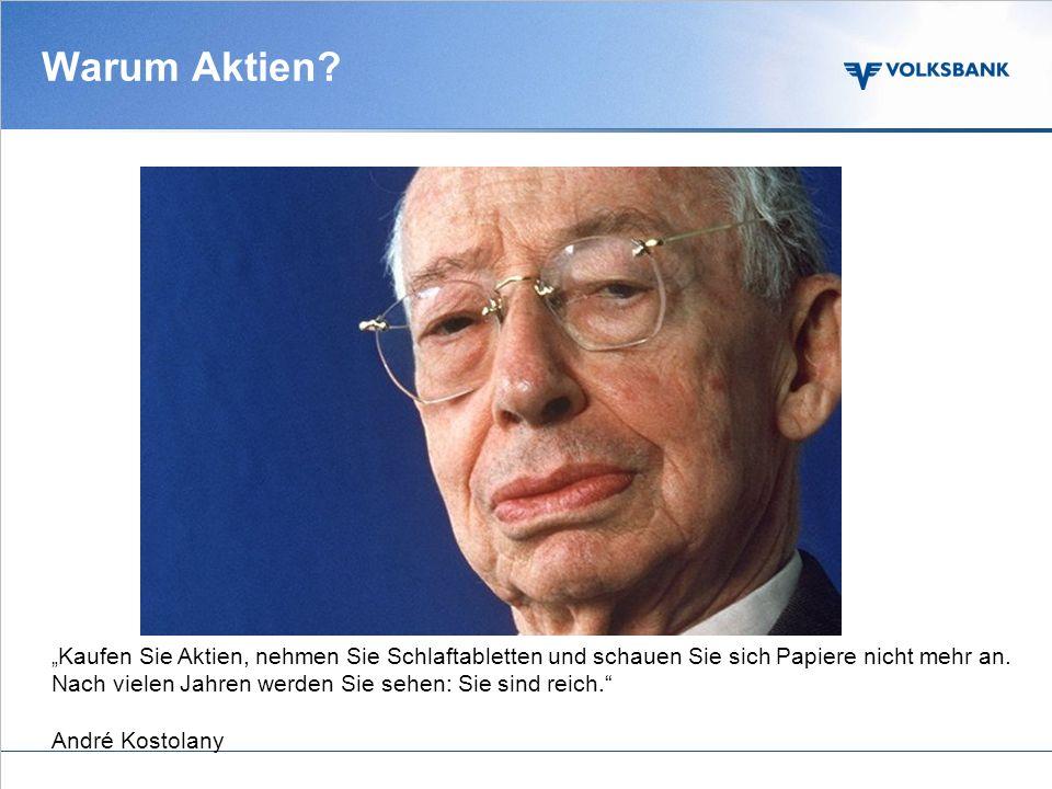 www.volksbank.com Anlegen in Aktien Reine Spekulation oder sinnvoller Baustein in der Vermögensbildung Amstetten, 5.10.2010