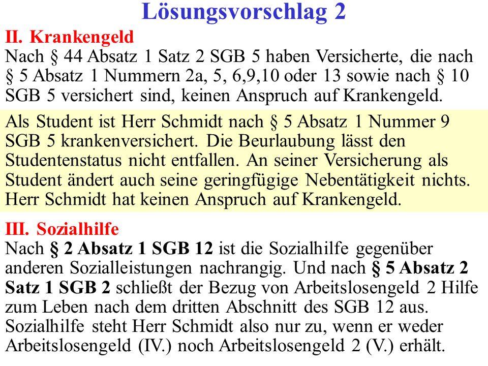 76 Lösung X C.Ansprüche gegen das Integrationsamt Das Integrationsamt ist zuständig für Behinderte.