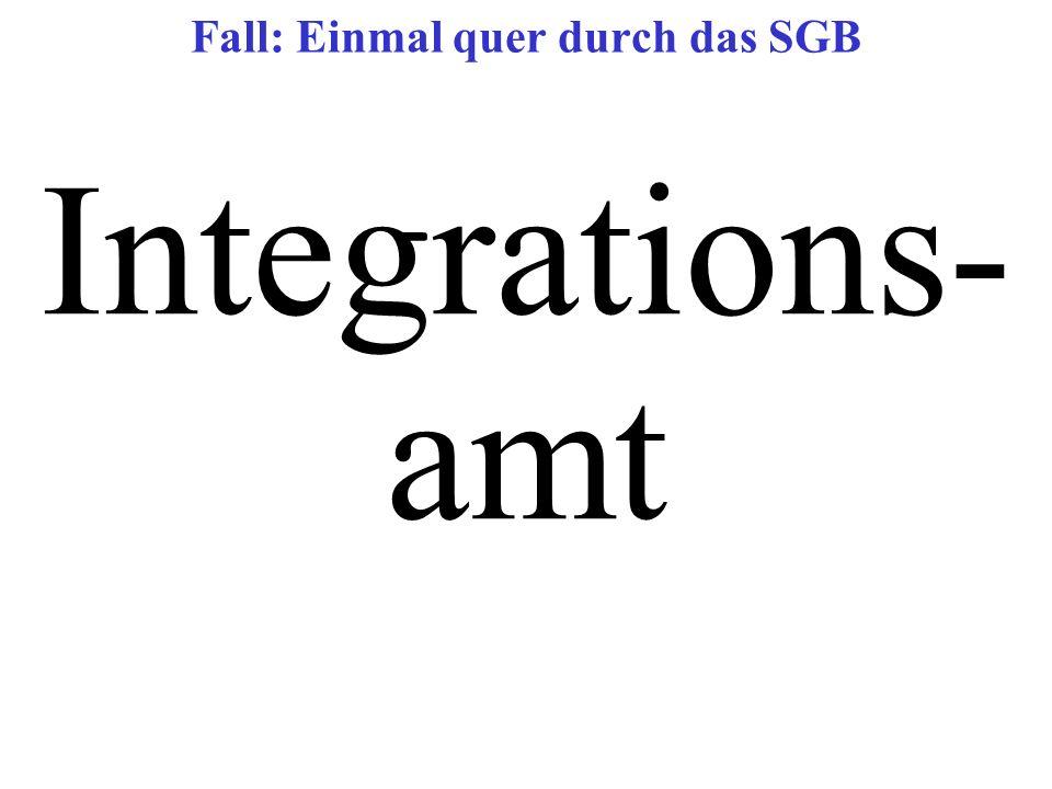 Integrations- amt Fall: Einmal quer durch das SGB