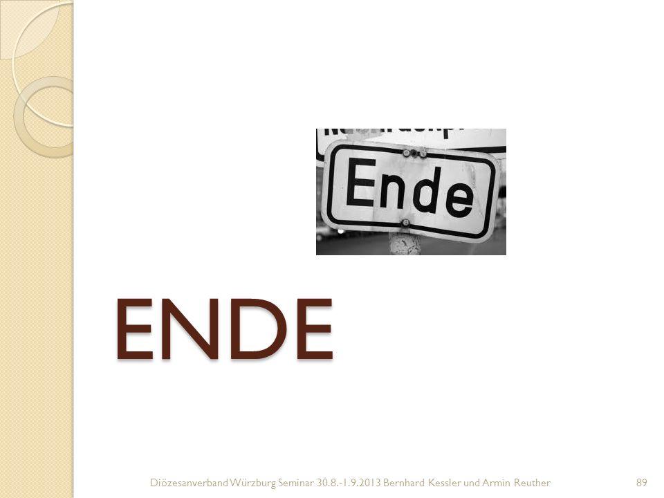 ENDE ENDE Diözesanverband Würzburg Seminar 30.8.-1.9.2013 Bernhard Kessler und Armin Reuther89