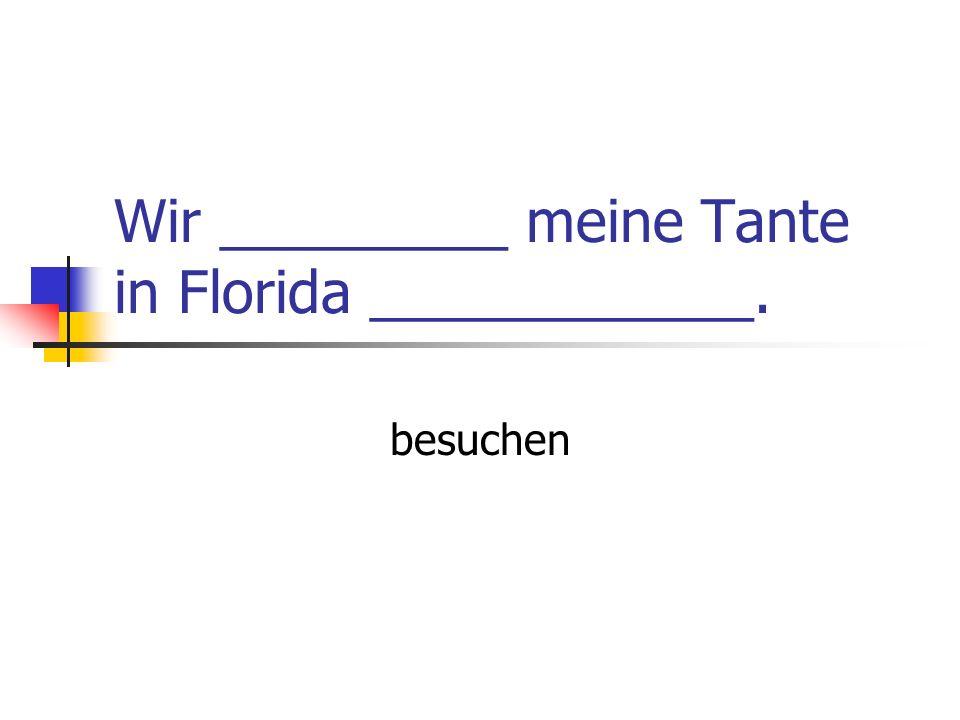 Wir _________ meine Tante in Florida ____________. besuchen