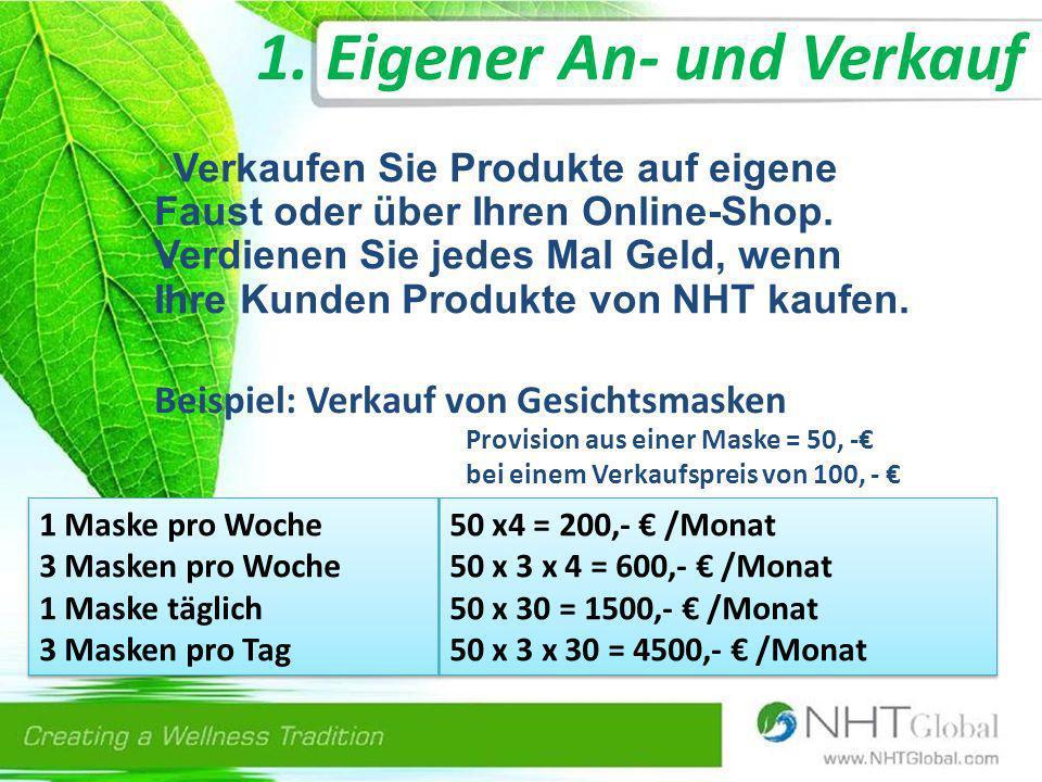 1.Eigener An- und Verkauf Verkaufen Sie Produkte auf eigene Faust oder über Ihren Online-Shop.