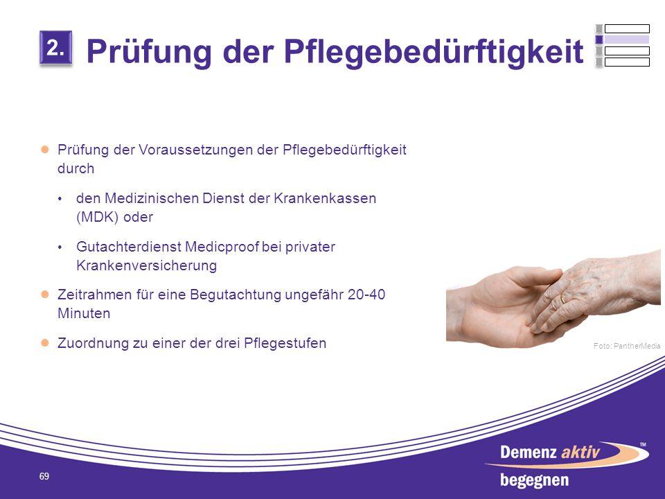 Prüfung der Pflegebedürftigkeit Prüfung der Voraussetzungen der Pflegebedürftigkeit durch den Medizinischen Dienst der Krankenkassen (MDK) oder Gutach