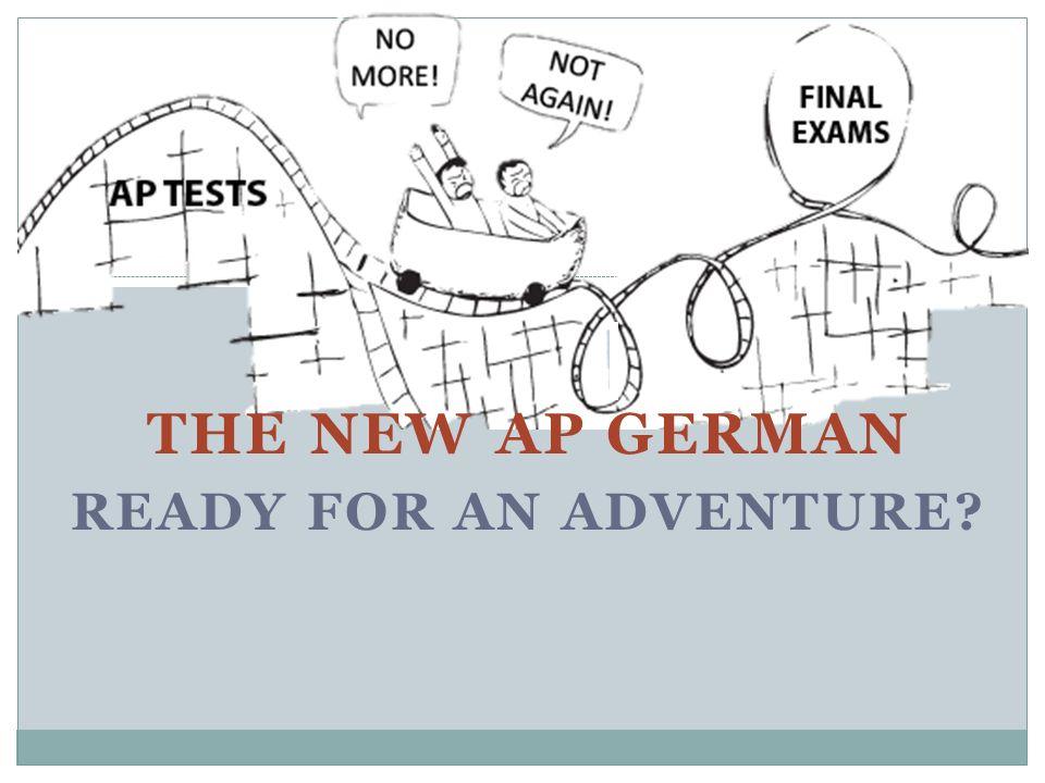 New AP Test breakdown Neues Examen - 3 Stunden lang Es gibt 2 Sektionen, gegliedert nach Learning Objective I.Print & Written II.Print & Audio combined What is that.