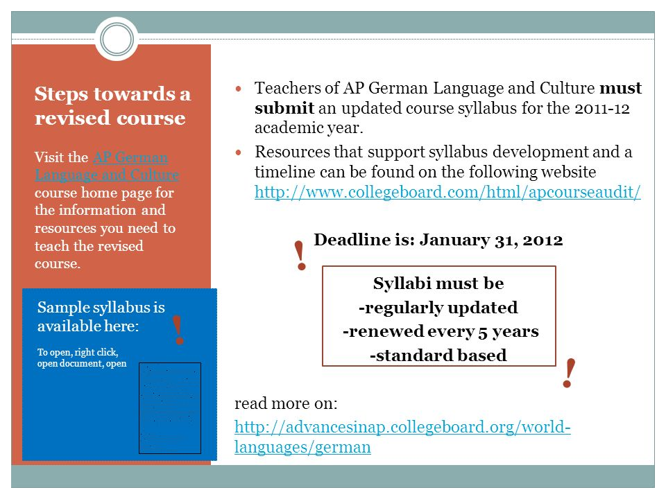 Course Themes the AP German Language and Culture course is structured around these 6 subjects: Designing the AP German Language and Culture course around themes creates an interesting, meainingful context in which to explore a variety of language concepts.