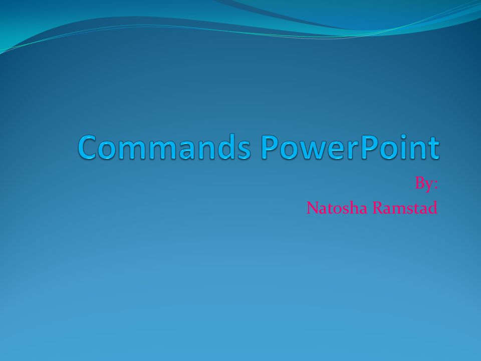 Du commands Du commands-used informal/ causal one person Rules: 1.