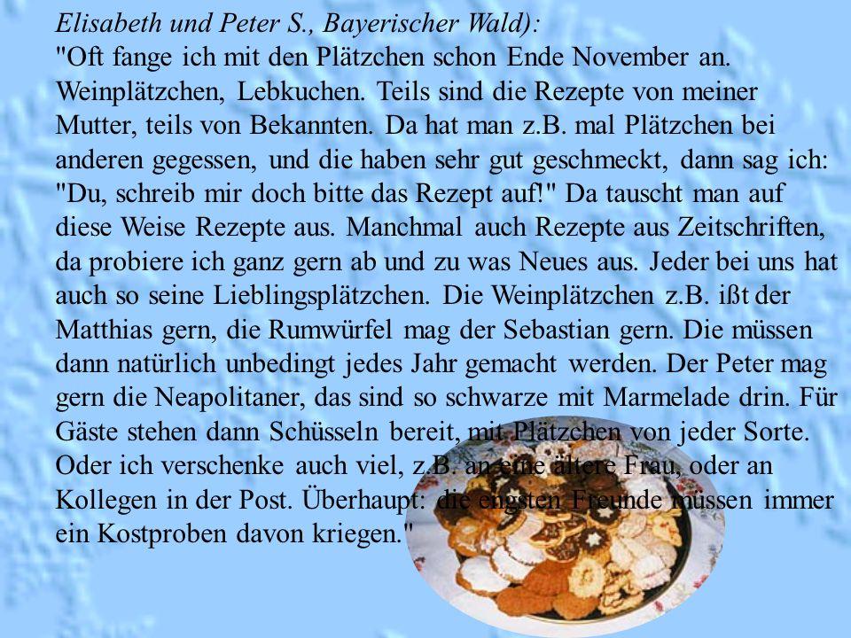 Elisabeth und Peter S., Bayerischer Wald):