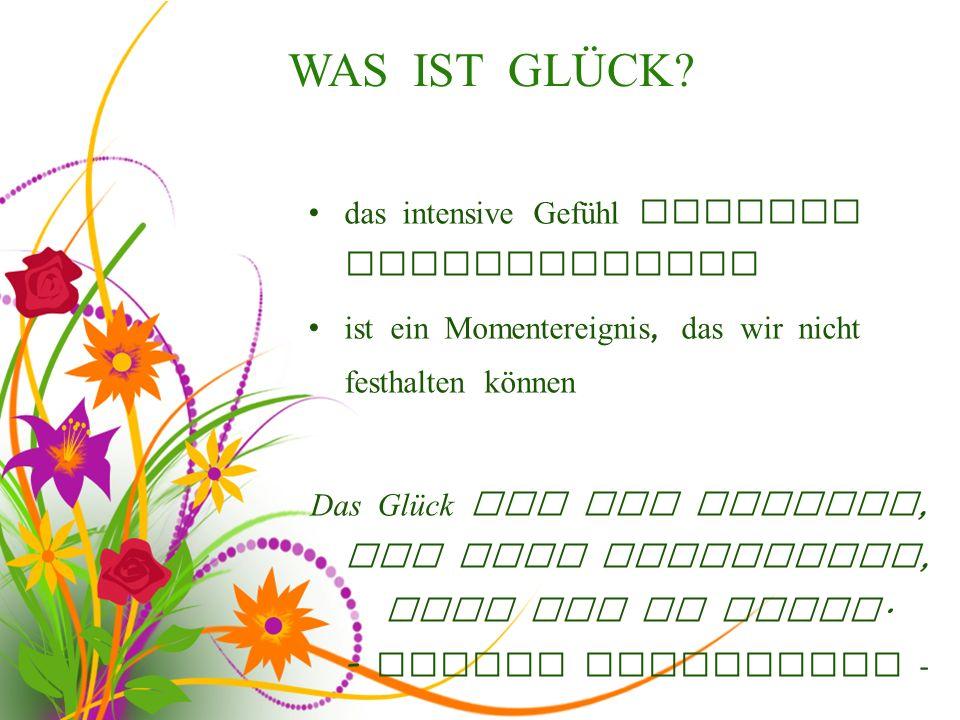 GLÜCKSSYMBOLE / GLÜCKSBRINGER
