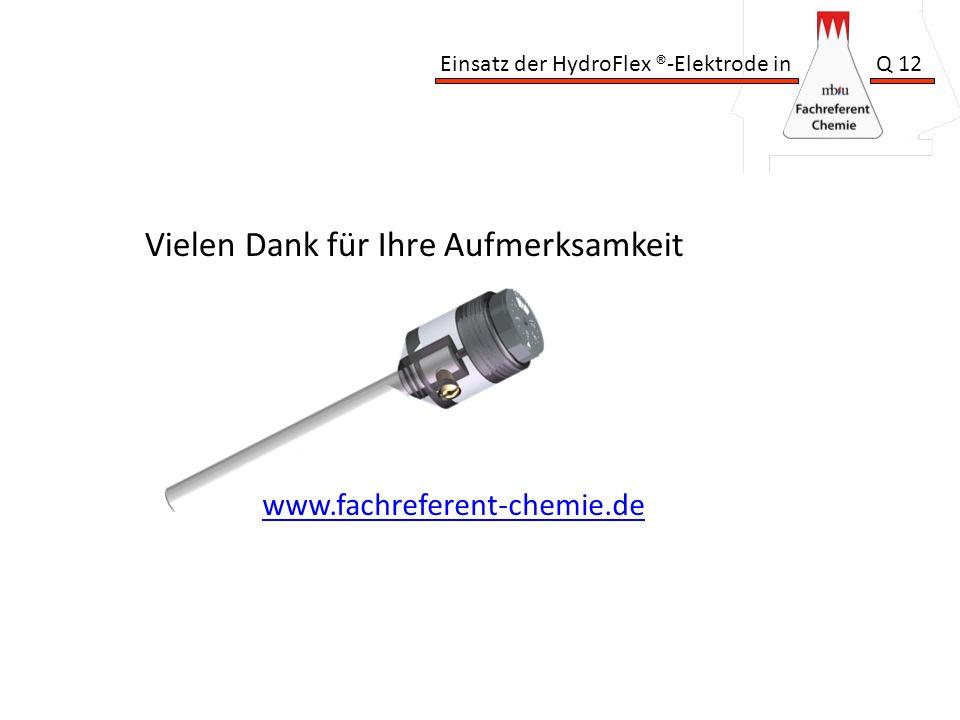 Einsatz der HydroFlex ®-Elektrode in Q 12 Vielen Dank für Ihre Aufmerksamkeit www.fachreferent-chemie.de