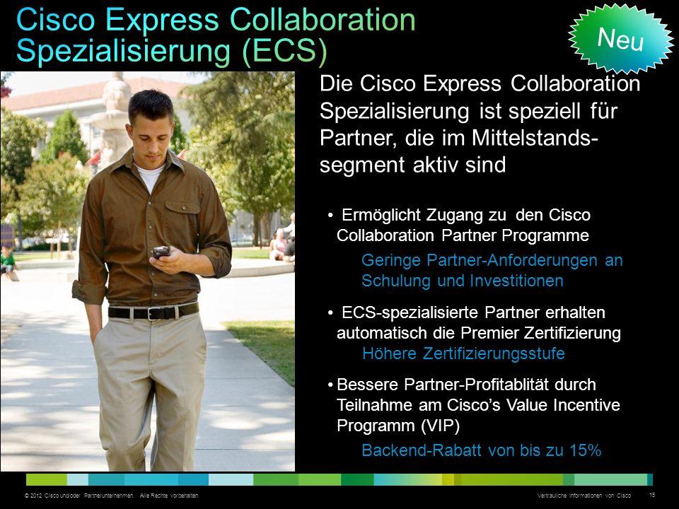 © 2012 Cisco und/oder Partnerunternehmen.Alle Rechte vorbehalten.