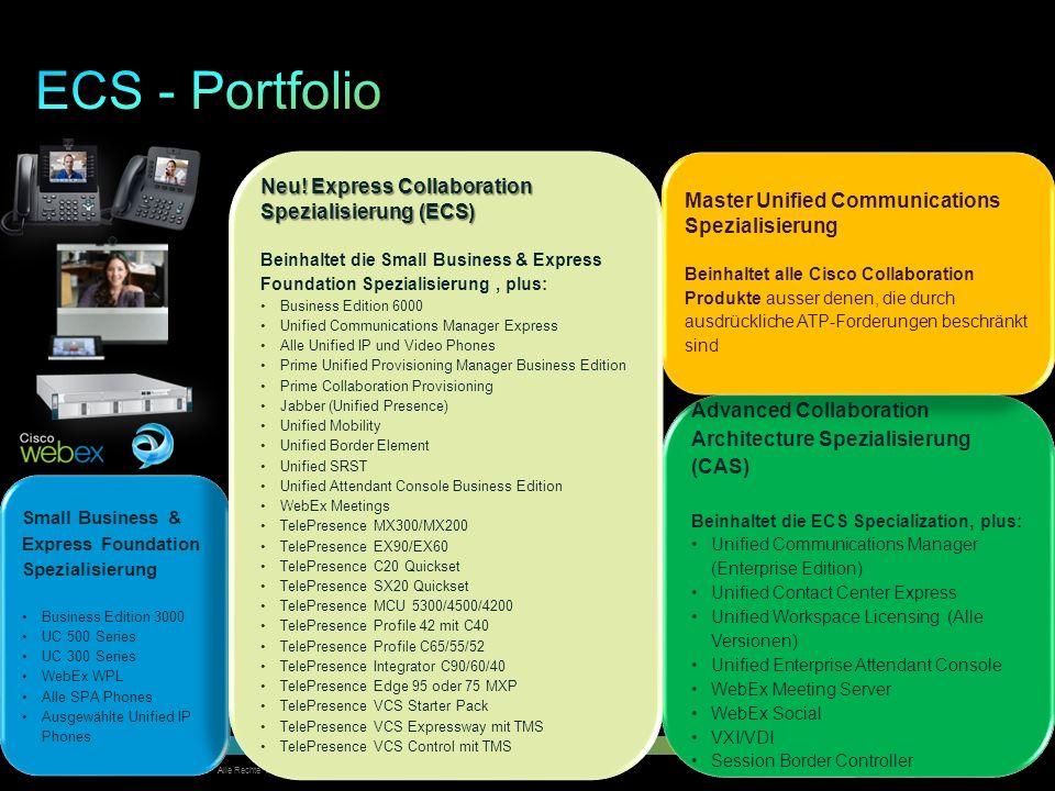 © 2012 Cisco und/oder Partnerunternehmen. Alle Rechte vorbehalten. Vertrauliche Informationen von Cisco 16 Small Business & Express Foundation Spezial