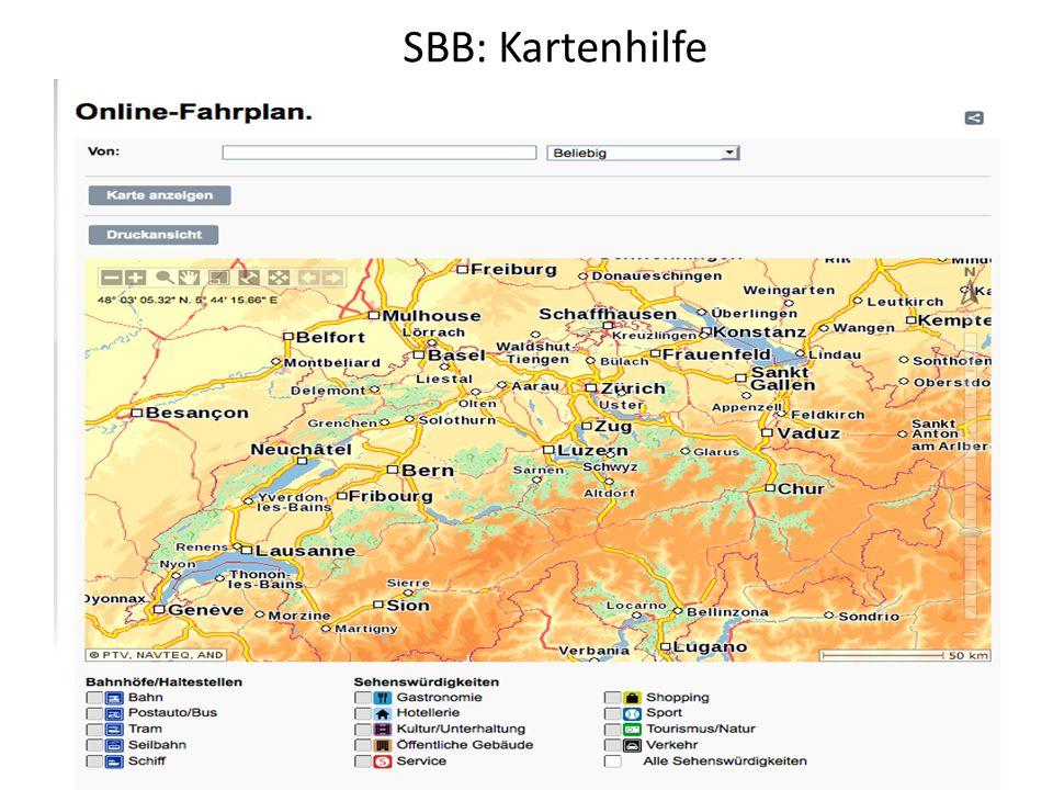 SBB: Kartenhilfe