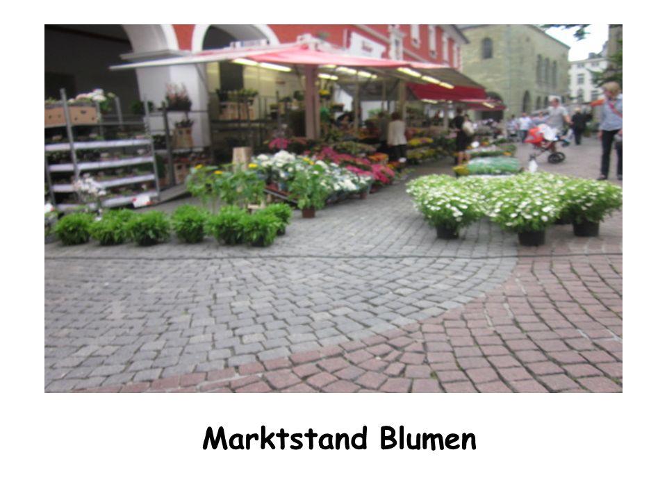 Marktstand Blumen