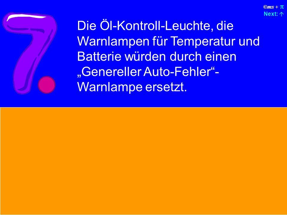©ms + Next: Macintosh baut Autos, die mit Sonnenenergie fahren, zuverlässig laufen, fünfmal so schnell sind und zweimal so leicht zu fahren sind, aber nur von 5% aller Autofahrer benützt werden.