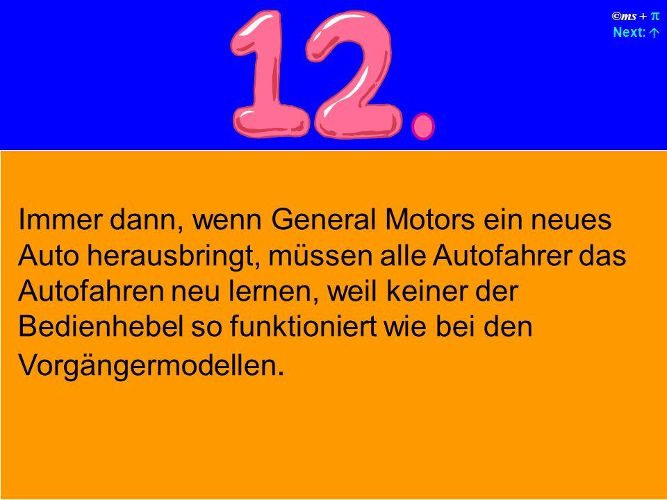 ©ms + Next: General Motors (GM) zwingt Sie, mit jedem Auto einen Deluxe-Kartensatz der Fa.