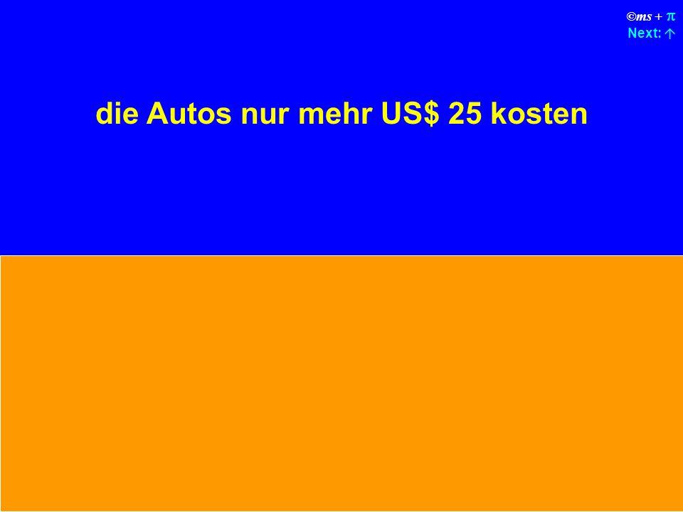 ©ms + Next: Die Öl-Kontroll-Leuchte, die Warnlampen für Temperatur und Batterie würden durch einen Genereller Auto-Fehler- Warnlampe ersetzt.