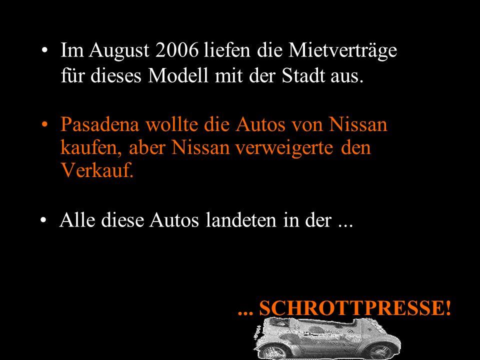 1997 führte Nissan den Hypermini (Elektroauto) auf dem Autosalon in Tokio vor. Pasadena (Kalifornien) mietete diese Autos als Dienstwagen für die städ