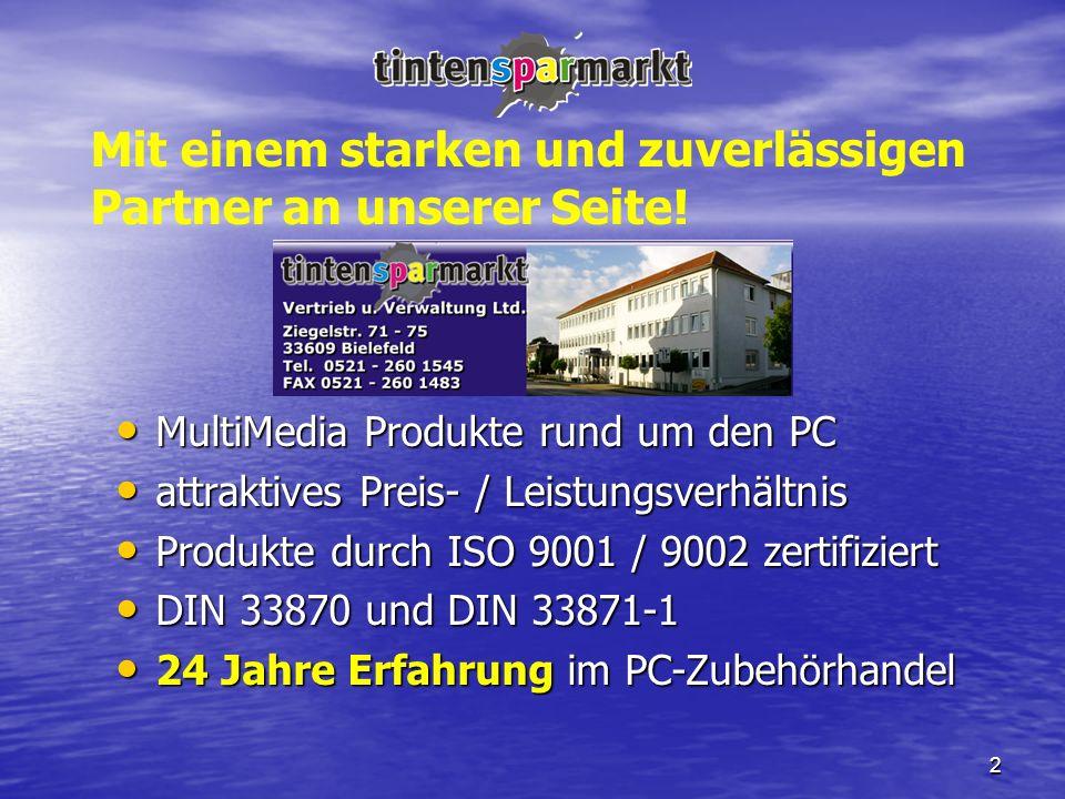 2 MultiMedia Produkte rund um den PC MultiMedia Produkte rund um den PC attraktives Preis- / Leistungsverhältnis attraktives Preis- / Leistungsverhält