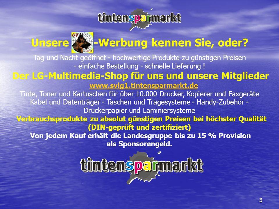 3 Unsere LG1-Werbung kennen Sie, oder? Tag und Nacht geöffnet - hochwertige Produkte zu günstigen Preisen - einfache Bestellung - schnelle Lieferung !