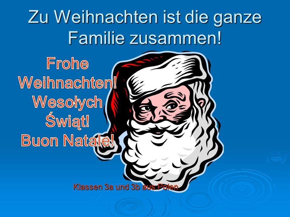 Zu Weihnachten ist die ganze Familie zusammen! Klassen 3a und 3b aus Polen Klassen 3a und 3b aus Polen