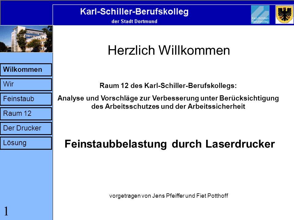 Raum 12 des Karl-Schiller-Berufskollegs: Analyse und Vorschläge zur Verbesserung unter Berücksichtigung des Arbeitsschutzes und der Arbeitssicherheit