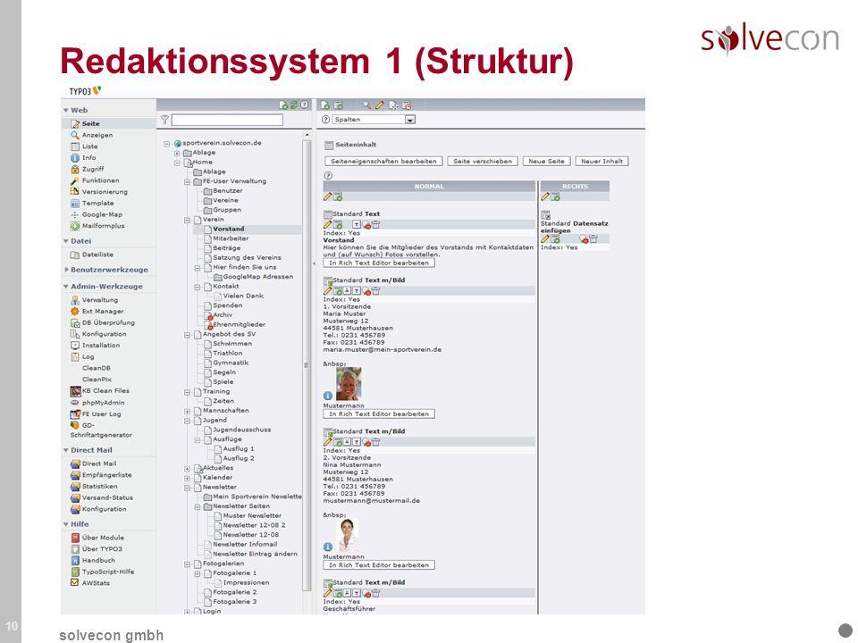 Redaktionssystem 1 (Struktur) 10 solvecon gmbh