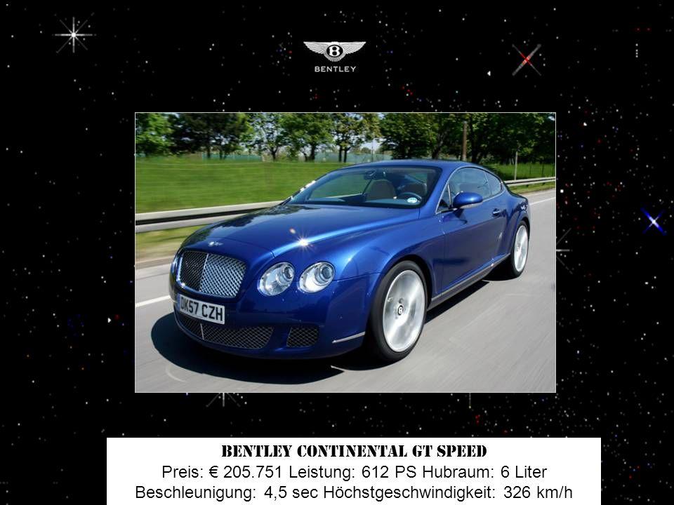 Ferrari 430 Spider F1-Schaltung Preis: 193.400 Leistung: 490 PS Hubraum: 4,3 Liter Beschleunigung: 4,1 sec Höchstgeschwindigkeit: 310 km/h