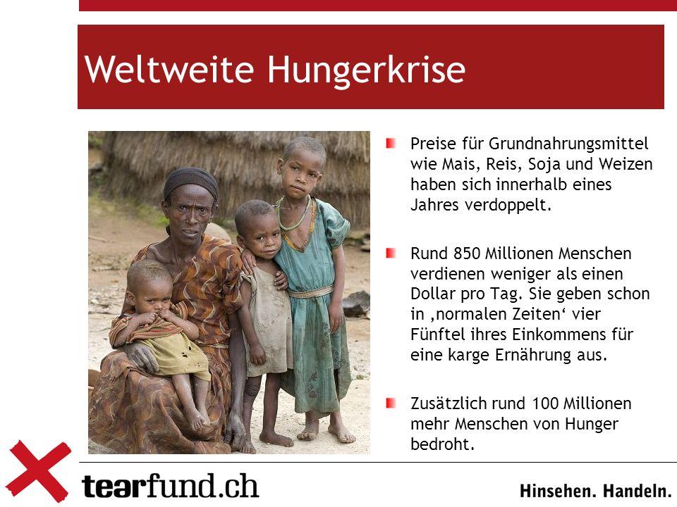 Recht auf Nahrung Ein Menschenrecht, das oft nicht eingehalten wird.