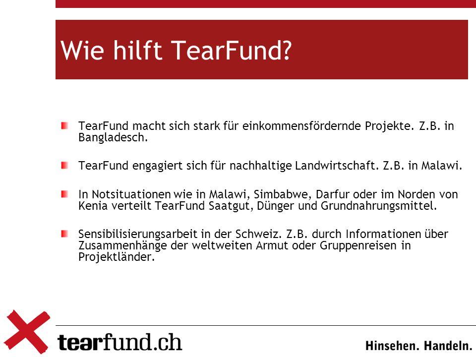 Wie hilft TearFund.TearFund macht sich stark für einkommensfördernde Projekte.