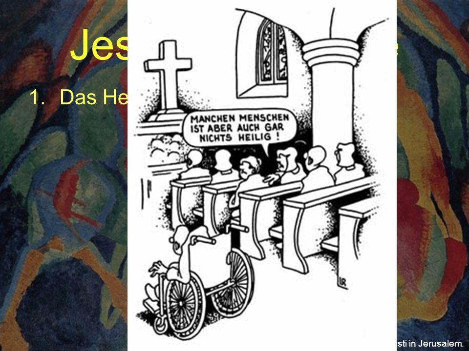 Jesus der Heilige 1.Das Heilige Bild: Wilhelm Morgner: Einzug Christi in Jerusalem.