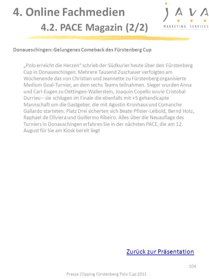 104 Donaueschingen: Gelungenes Comeback des Fürstenberg Cup Polo erreicht die Herzen schrieb der Südkurier heute über den Fürstenberg Cup in Donauesch