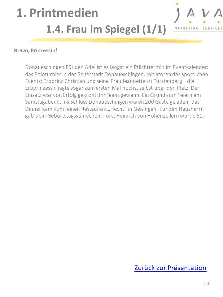 30 Bravo, Prinzessin! Donaueschingen Für den Adel ist es längst ein Pflichttermin im Eventkalender: das Poloturnier in der Reiterstadt Donaueschingen.