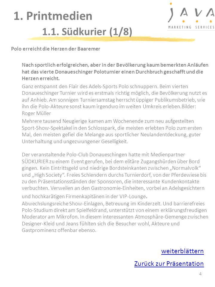 Polo erreicht die Herzen der Baaremer Nach sportlich erfolgreichen, aber in der Bevölkerung kaum bemerkten Anläufen hat das vierte Donaueschinger Polo