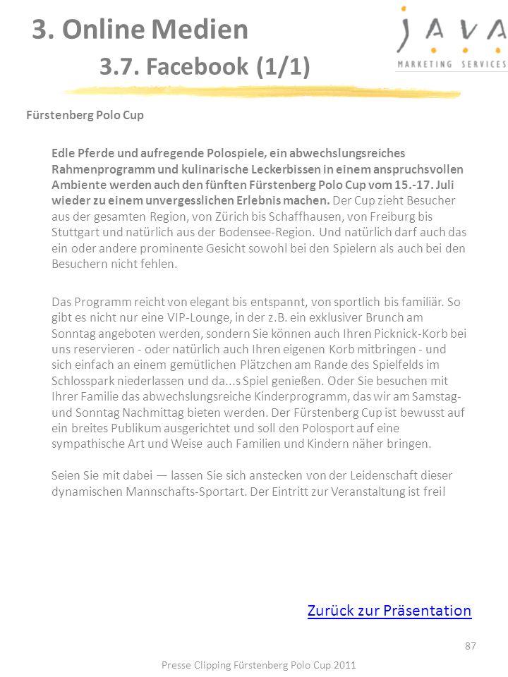 87 Fürstenberg Polo Cup Edle Pferde und aufregende Polospiele, ein abwechslungsreiches Rahmenprogramm und kulinarische Leckerbissen in einem anspruchs