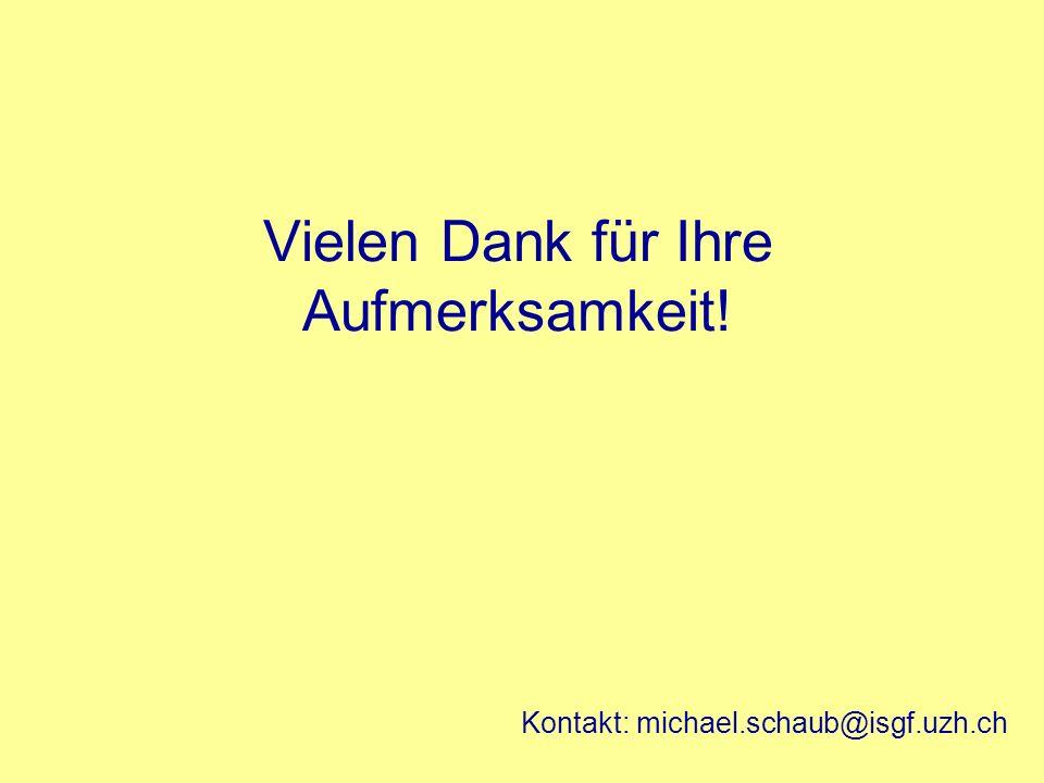 Vielen Dank für Ihre Aufmerksamkeit! Kontakt: michael.schaub@isgf.uzh.ch