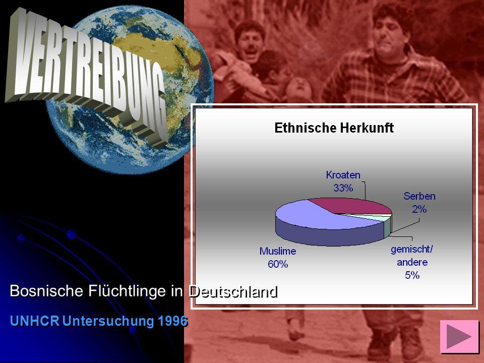 Bosnische Flüchtlinge in Deutschland UNHCR Untersuchung 1996 Bosnische Flüchtlinge in Deutschland UNHCR Untersuchung 1996