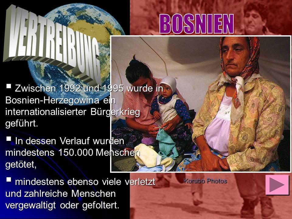 Zwischen 1992 und 1995 wurde in Bosnien-Herzegowina ein internationalisierter Bürgerkrieg geführt. In dessen Verlauf wurden mindestens 150.000 Mensche