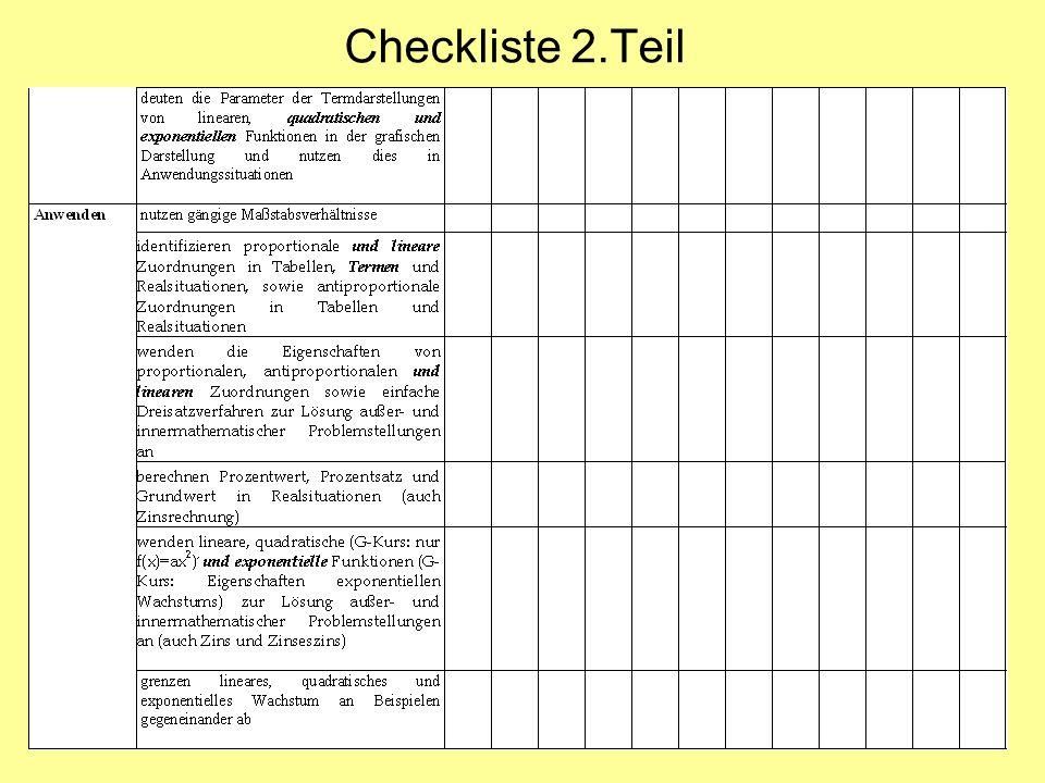 Checkliste 2.Teil