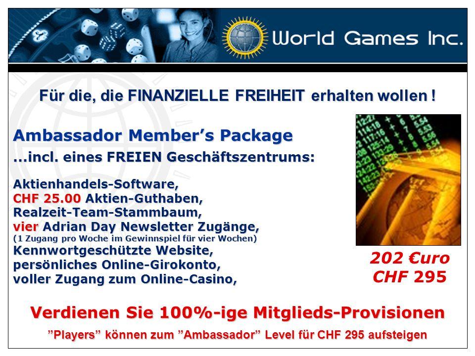 Für die, die mit Aktien handeln u. SPIELE spielen möchten:...incl. eines FREIEN Geschäftszentrums: Player Members Package Aktienhandels-Software,Realz