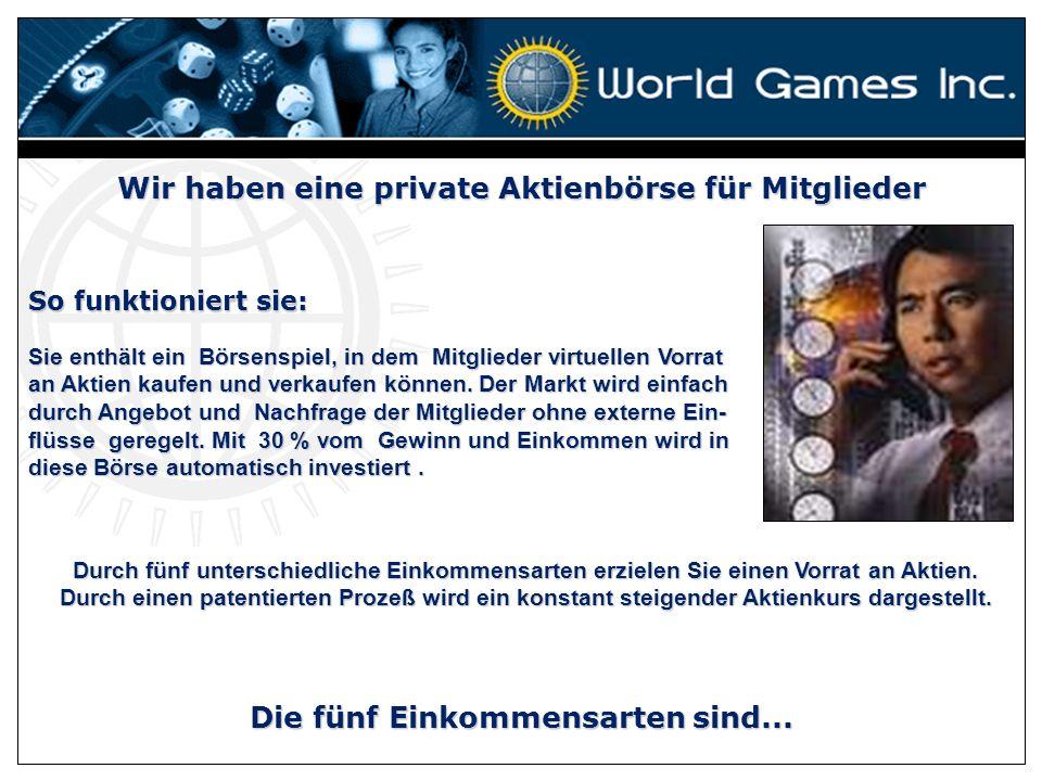 World Games Inc lädt Sie ein Mitglied zu werden, vom einfachsten, leistungsfähigsten, automatisiertesten, globalen, Spaß bringenden System im Internet