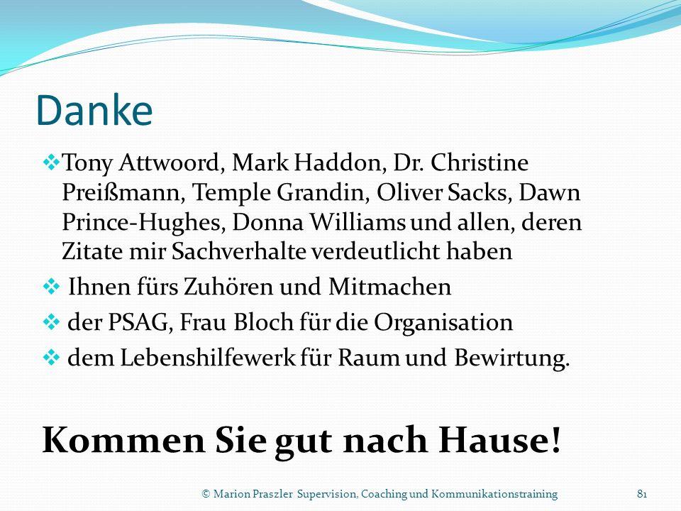 Danke Tony Attwoord, Mark Haddon, Dr.